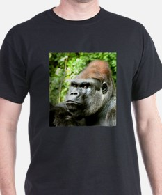 Earnie Silverback gorilla looking forward T-Shirt