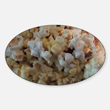 Popcorn Photograph Sticker (Oval)