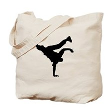 BBOY silhouette blk Tote Bag