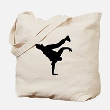 BBOY silhouette blk Tote Bag