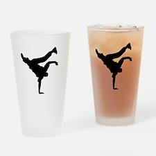 BBOY silhouette blk Drinking Glass