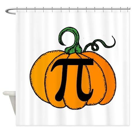 Pumpkin Pi Shower Curtain By Shakeoutfittersgeekwear