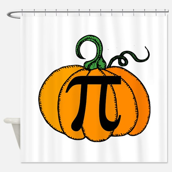 Pumpkin Pi Shower Curtain