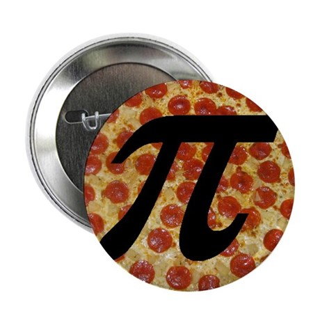 "Pizza Pi 2.25"" Button (10 pack)"