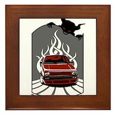 Rebel in hell (red) Framed Tile
