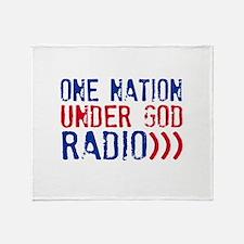 One Nation Under God Radio Throw Blanket