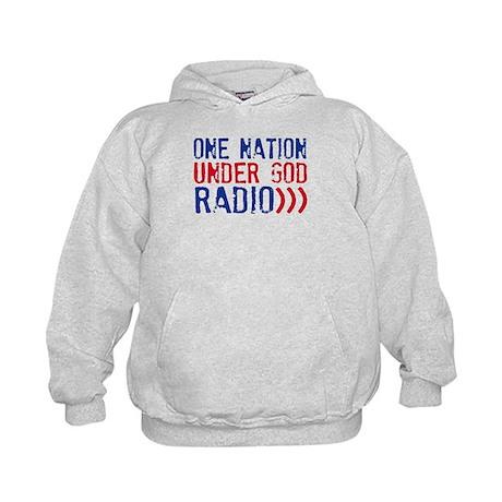 One Nation Under God Radio Kids Hoodie