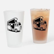 Family Camper Van Drinking Glass