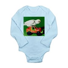RACER THE PARAKEET Long Sleeve Infant Bodysuit