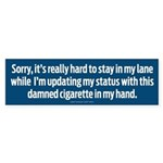Hard to Stay In My Lane Sticker (Bumper)