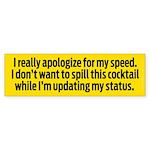 Speedy Apology Sticker (Bumper 10 pk)