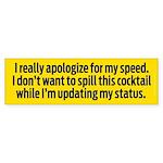 Speedy Apology Sticker (Bumper)