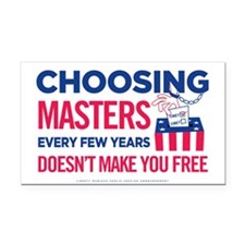 Choosing Masters Rectangle Car Magnet
