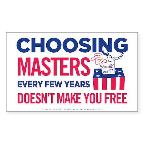 Choosing Masters Sticker (Rectangle)