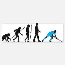 evolution fieldhockey player Sticker (Bumper)