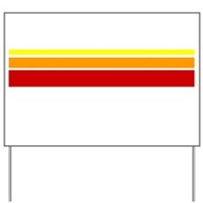 Warm color lines 2 Yard Sign