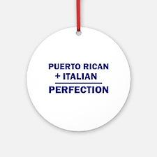 Italian + Puerto Rican Ornament (Round)