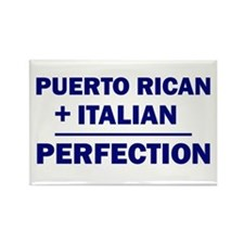 Italian + Puerto Rican Rectangle Magnet