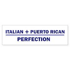 Italian + Puerto Rican Bumper Bumper Sticker