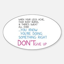 Dont Give Up Decal