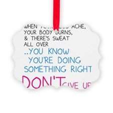 Dont Give Up Ornament