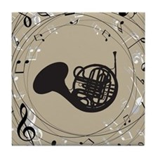 French Horn Musical Gift Tile Coaster