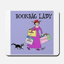 BOOKBAG LADY Mousepad