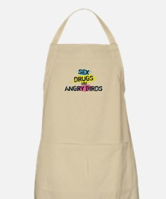 Sex Drugs and angry birds Apron