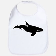 Bull Orca Whale Design Baby Bib