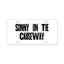Unique Sonny Aluminum License Plate