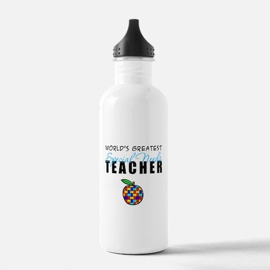 Worlds Greatest Special Needs Teacher Water Bottle