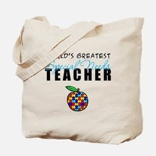 Worlds Greatest Special Needs Teacher Tote Bag