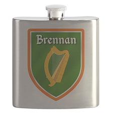 Brennan Family Crest Flask
