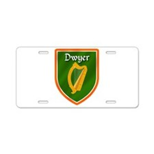 Dwyer Family Crest Aluminum License Plate