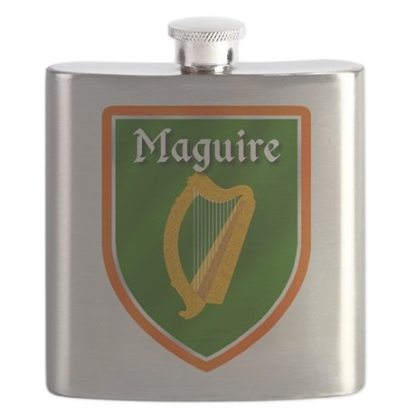 Maguire Family Crest Flask