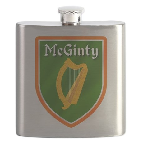 McGinty Family Crest Flask
