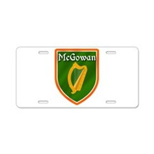 McGowan Family Crest Aluminum License Plate