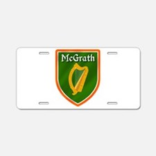 McGrath Family Crest Aluminum License Plate