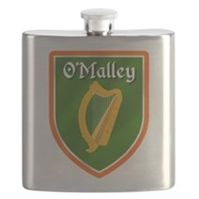 OMalley Family Crest Flask