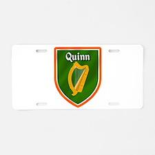 Quinn Family Crest Aluminum License Plate