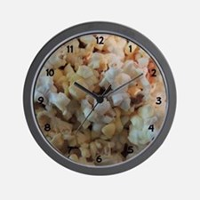 Popcorn Photograph Numbers Wall Clock