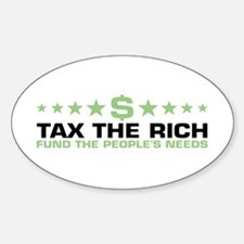 tax the rich Oval Decal