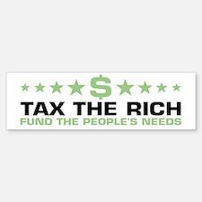 tax the rich Bumper Bumper Bumper Sticker