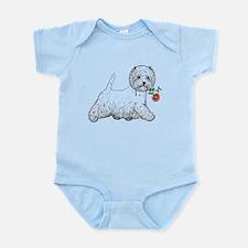 Red Flower Westie III Infant Bodysuit