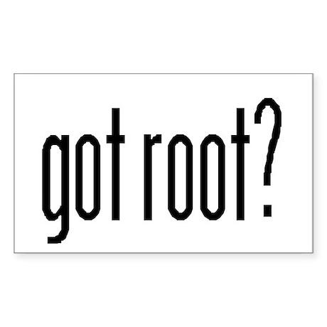 got root? Rectangle Sticker