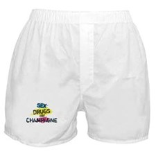 Sex Drugs And Champagne Boxer Shorts