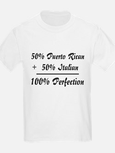 Half Italian, Half Puerto Ric Kids T-Shirt