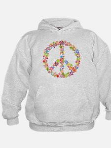 Peace Sign Flowers Hoodie