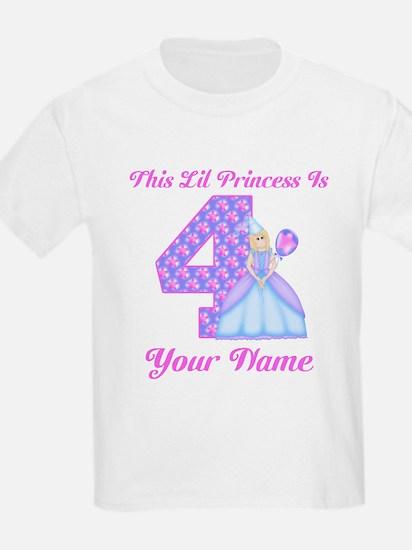 4th Birthday Princess Girl T-Shirt