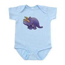 Purple Triceratops Dinosaur Infant Bodysuit